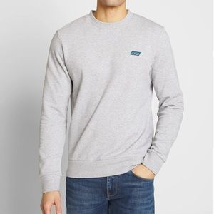 Scotch & Soda | Mens Grey Logo Knit Pullover Shirt